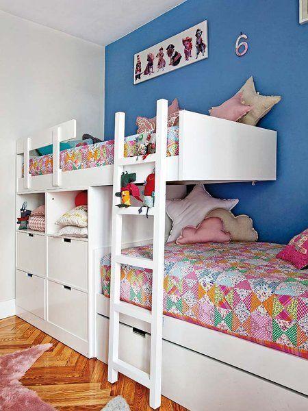 Un dormitorio lleno de color decoraci n literas for Ideas decoracion habitacion juvenil nino