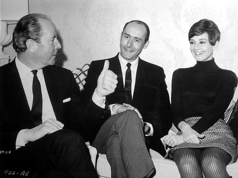 The actress Audrey Hepburn photographed with Terence Young
