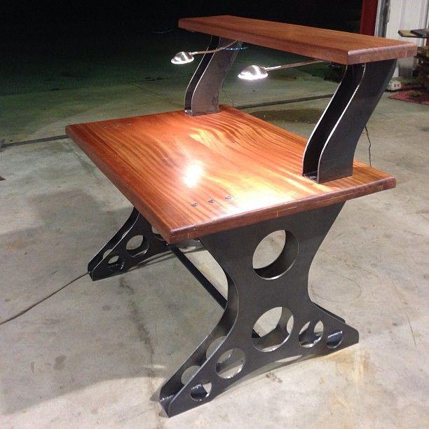 Custom Ordered Desk Make From 3/16 Inch Hot Rolled Steel