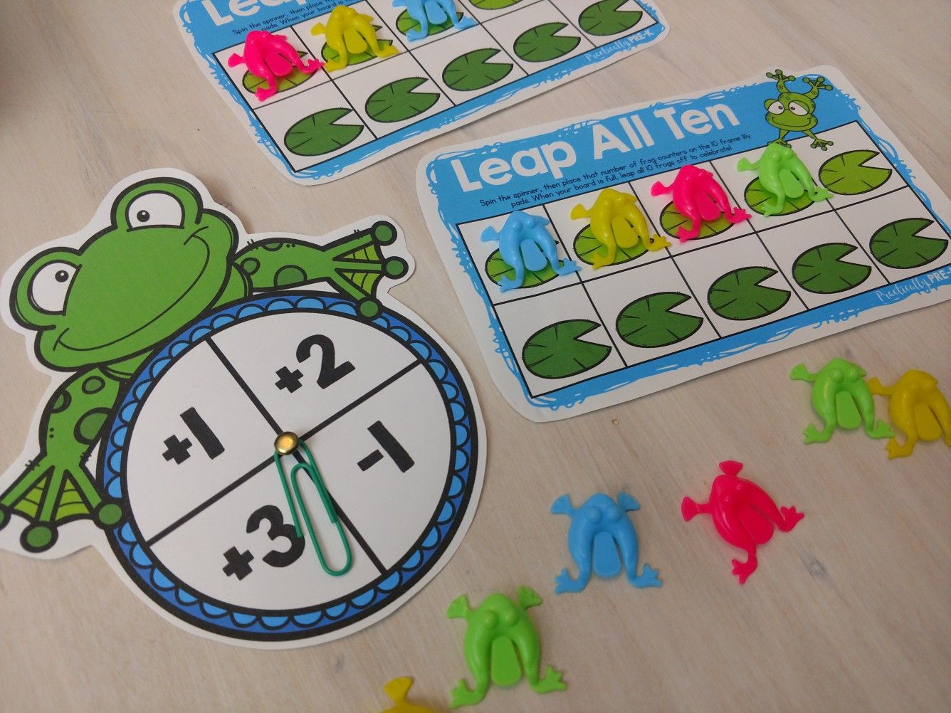 Frog Math Games Differentiated Number Sense Printables