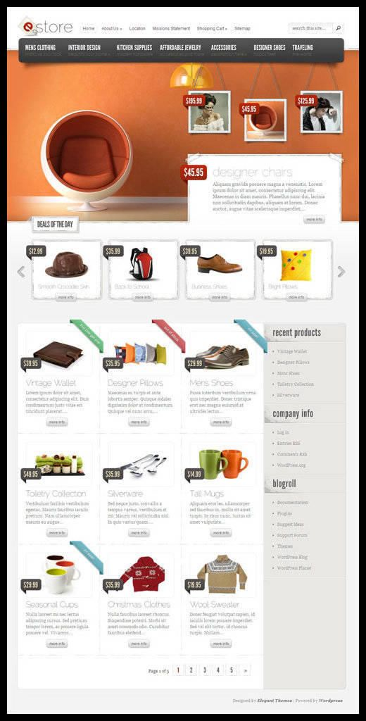 eStore WordPress Theme - Elegant Themes   Best WordPress Themes ...