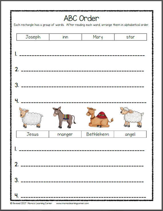 Nativity Worksheets For Kindergarten And First Grade Kindergarten Worksheets Nativity First Grade