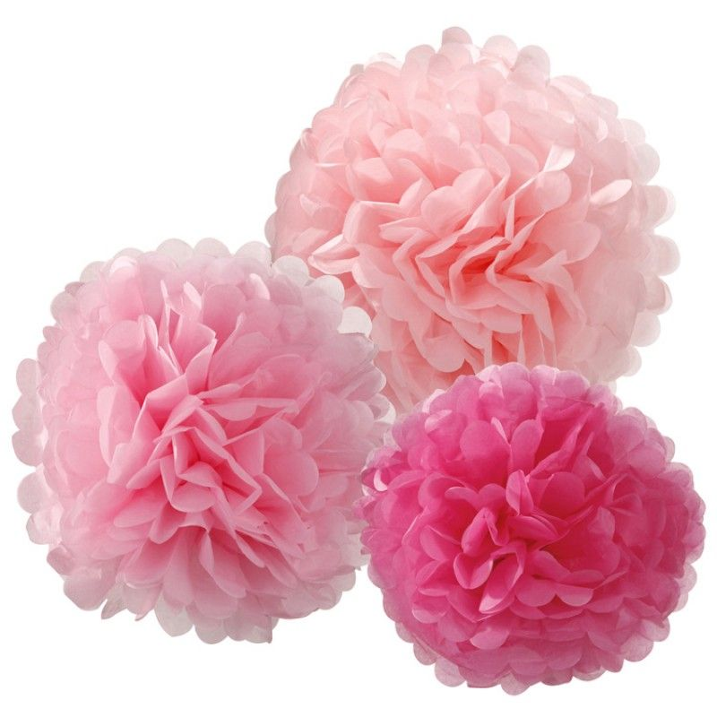 Decadent Decorations Pom Pom Mix Pink http://www.weddingheart.co.uk/party-pieces---hen-party-accessories.html