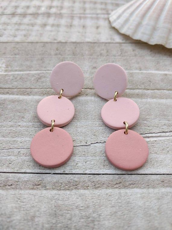 Handmade Love yourself Pastel Colours Funky Gift for her Boobie love heart earrings Valentines Love Heart Polymer Clay