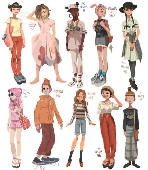 Character Design References Challenge Rules : Art by anna cattish website http