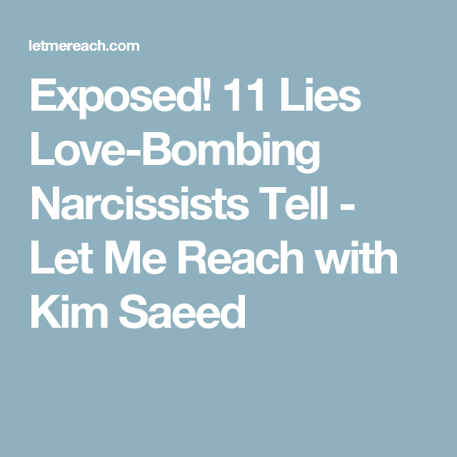 Narcissist lies exposed