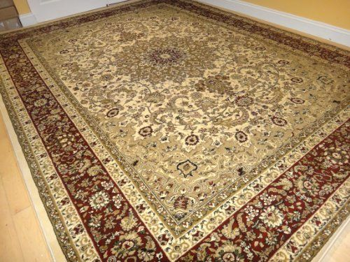 large 8x11 ivory persian shiraz style rug oriental rugs living