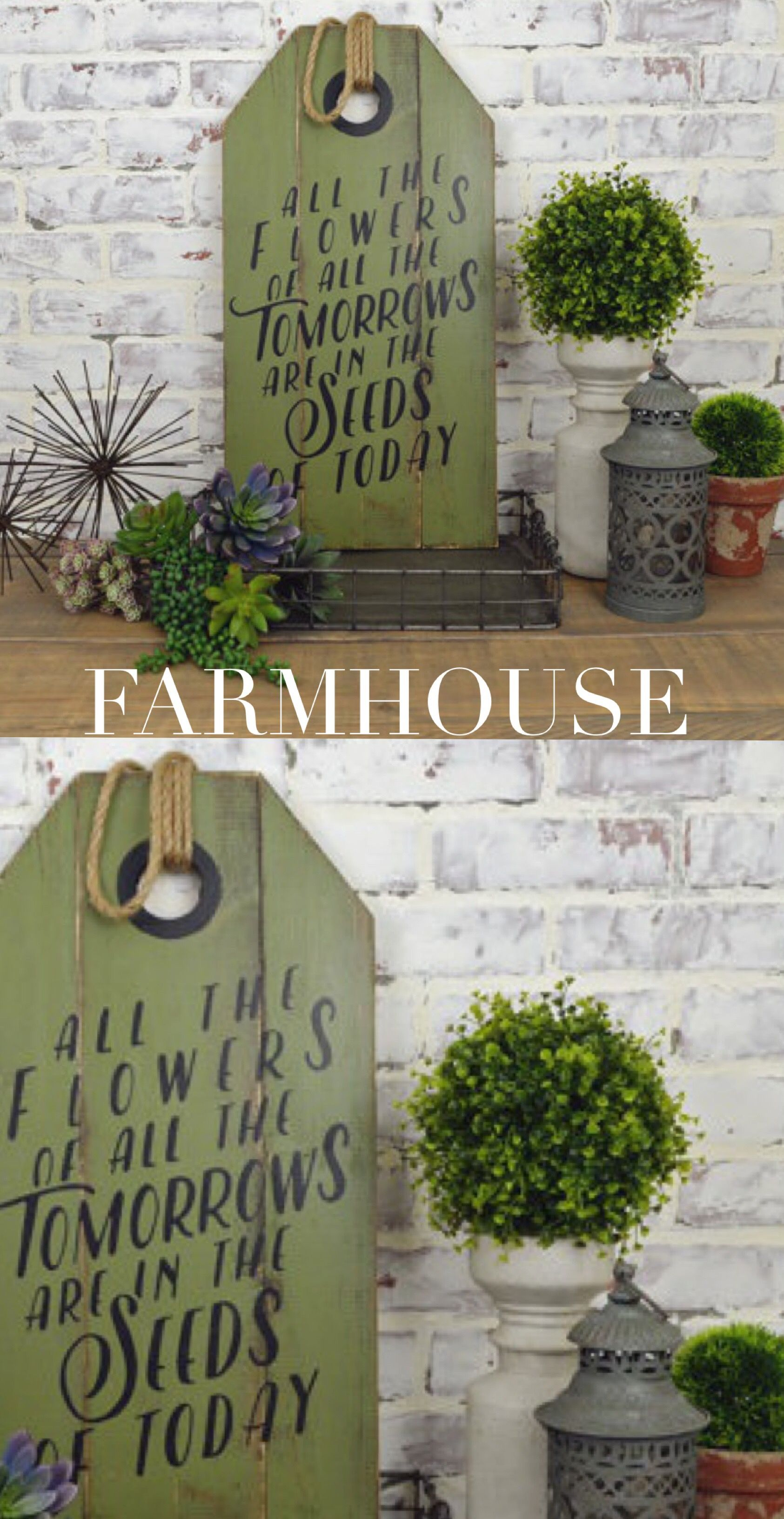 Farmhouse Table Modern Decor Spring Sign Wooden Tags Rustic Signs Wood Build Stuff Alphabet Soup