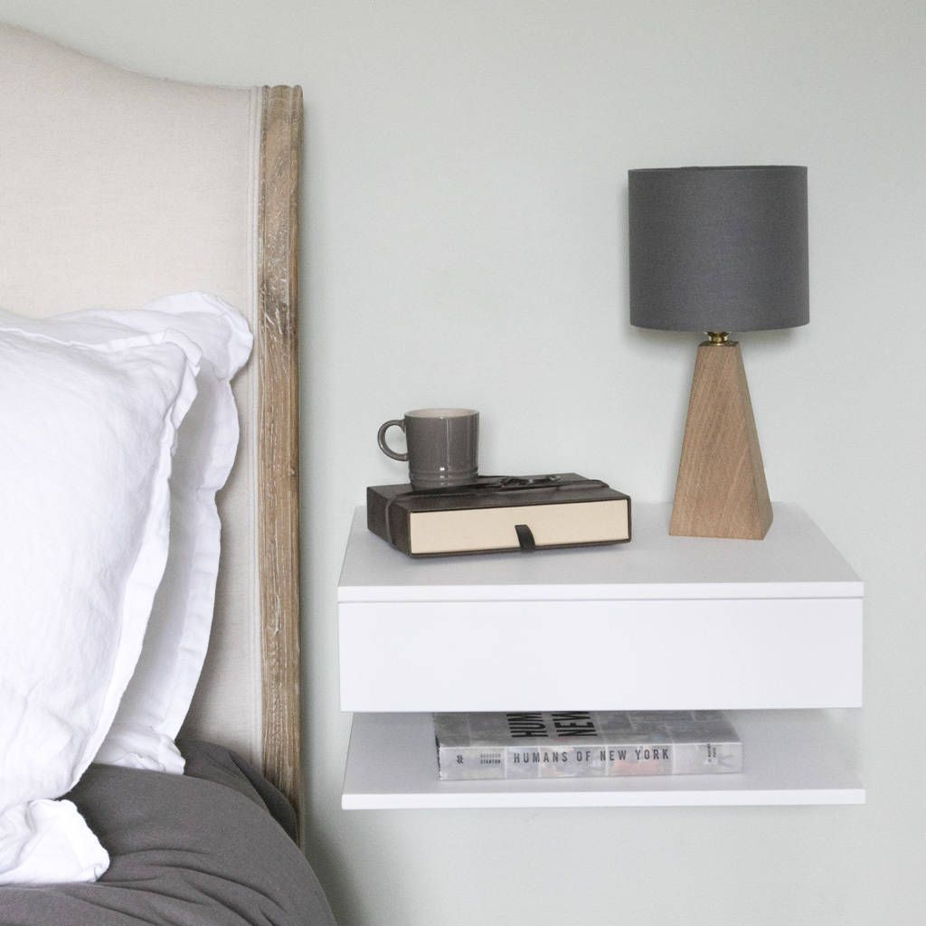 floating bedside table with drawer and shelf by urbansize |  notonthehighstreet.com