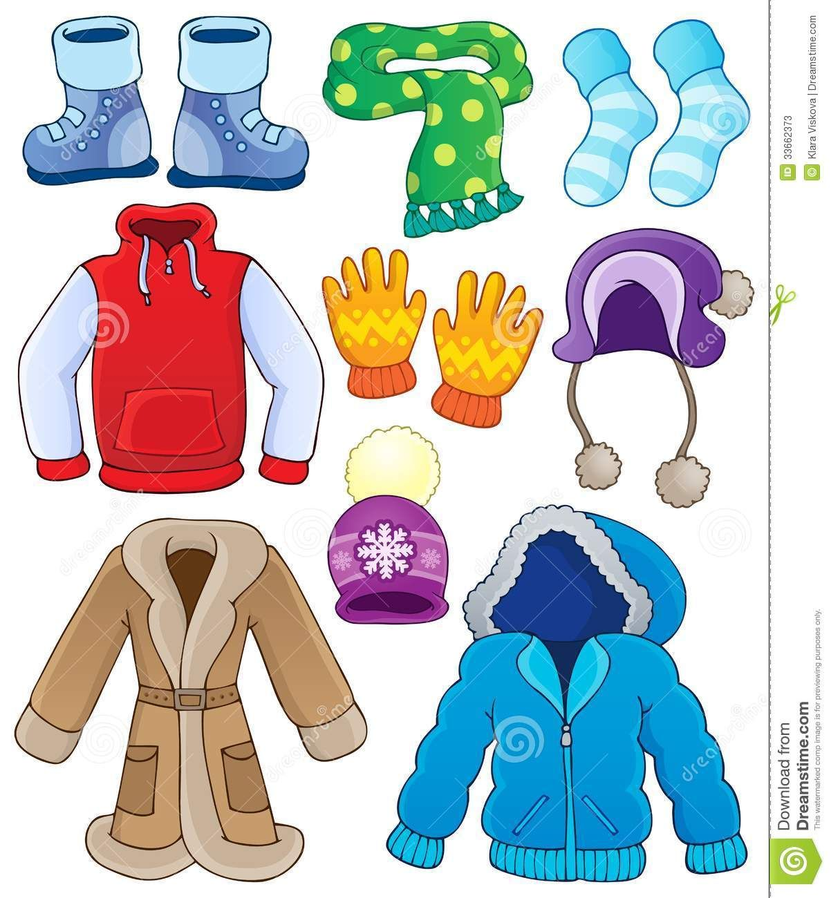 Clip Art Winter Clothes Clothin