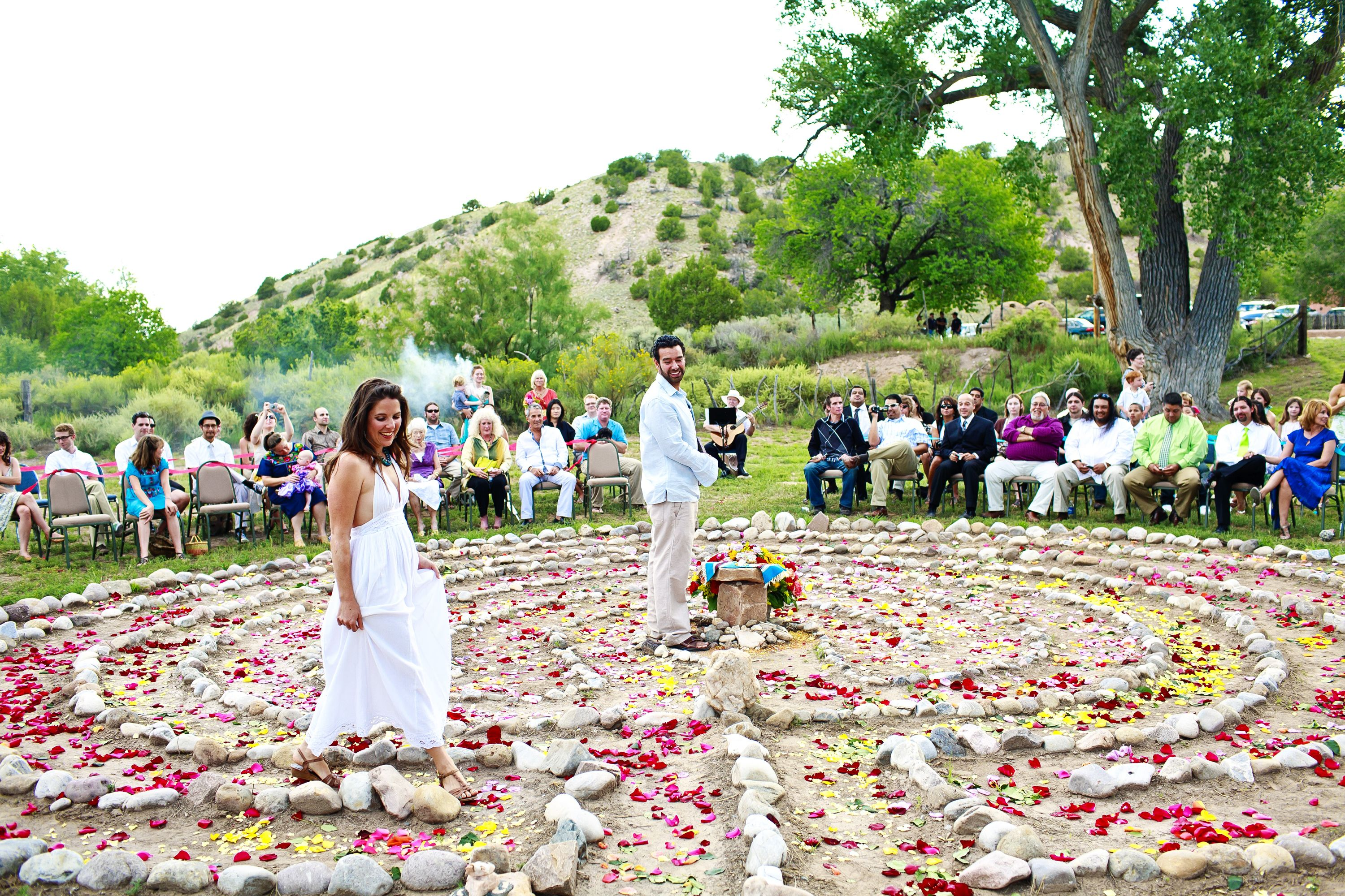 A Wedding Labyrinth At Ojo Caliente Relax Pinterest Wedding