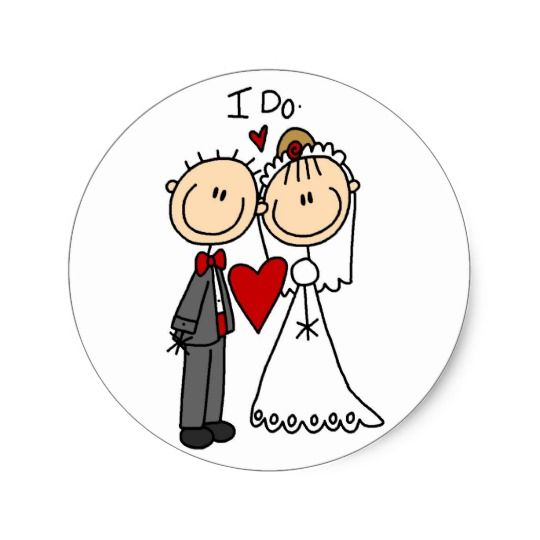 wedding couple i do t shirts and gifts classic round sticker