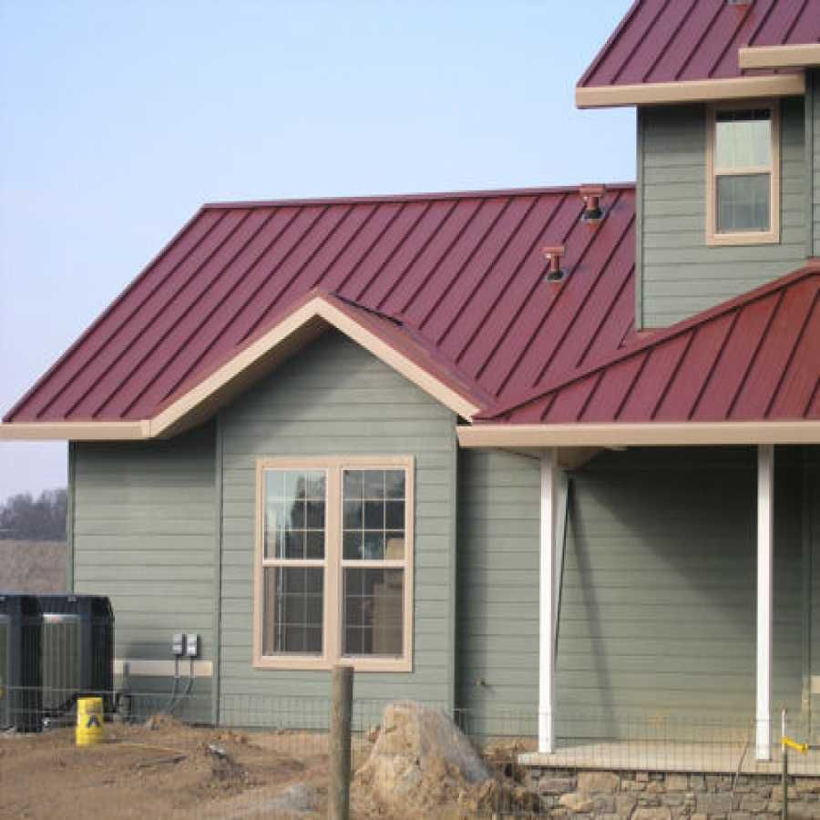 Impressive Barn Metal Roofing 3 Houses With Red Metal Roof Red