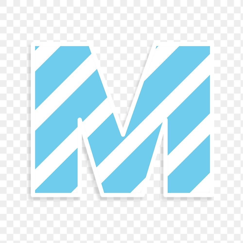 Png Letter M Striped Font Free Image By Rawpixel Com Jingpixar Free Illustrations Free Png Lettering