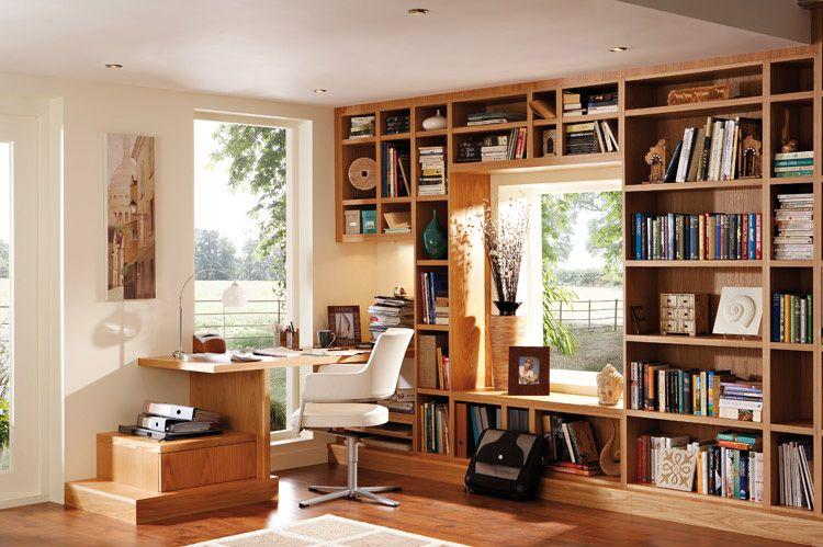 how to create built in bookshelves around windows jpg 750 499