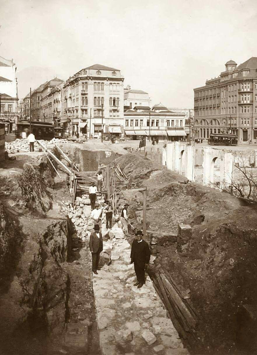 1917 Rua Libero Badaro Em Obras Com Imagens Fotos Antigas