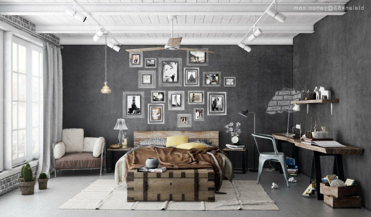 Mens Bedroom Interior Design Enchanting Masculine Industrial Bedrooms Interior Design For Men