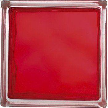 Brique De Verre Rouge Ondulé Brillant Leroy Merlin