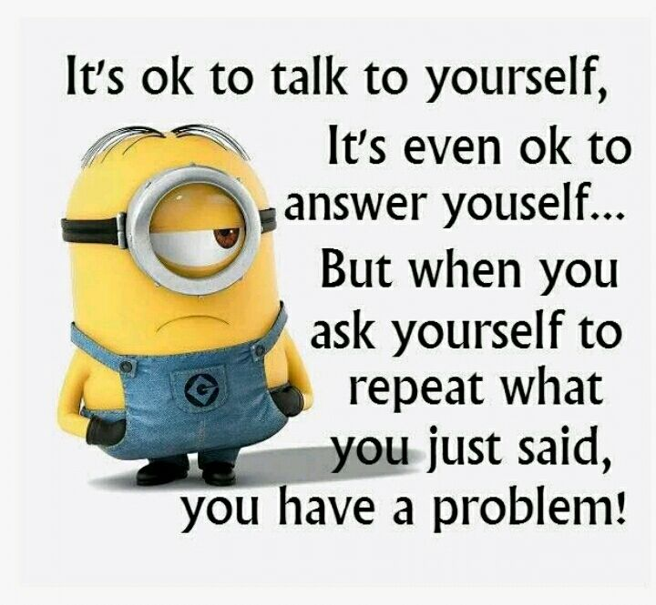 It's ok to talk to yourself... | Funny quotes, Funny ...