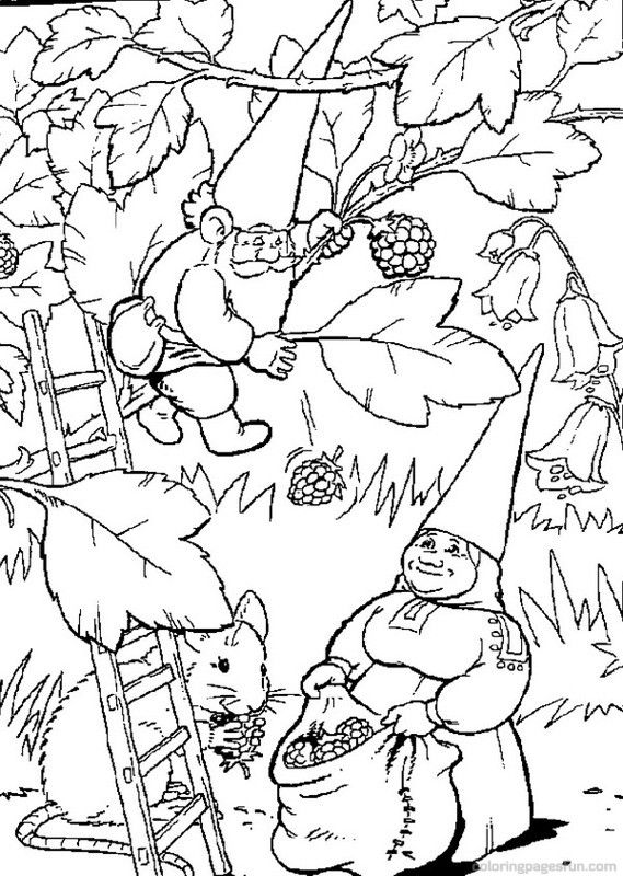 Gnome Printable David the Gnome Coloring Pages 12 Free