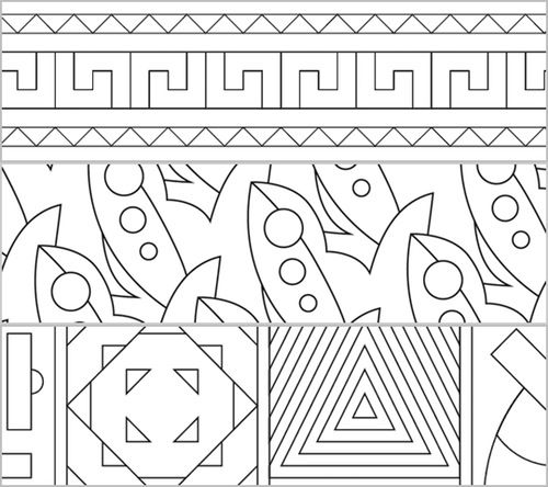 Patterns - Muster zum Ausmalen - | Abstraktes muster, ältestes Kind ...