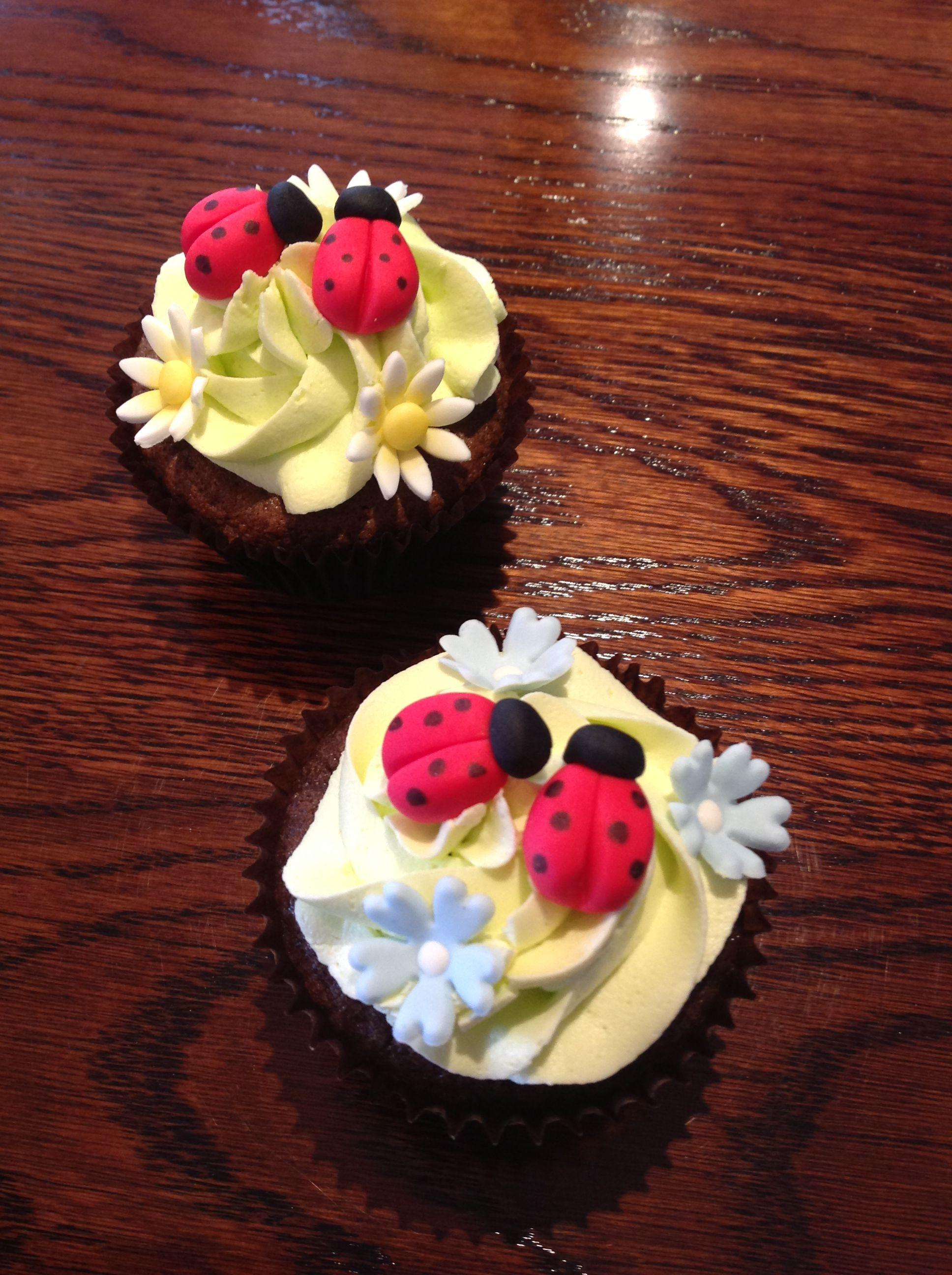fondant ladybirds (SPCA cupcake day)