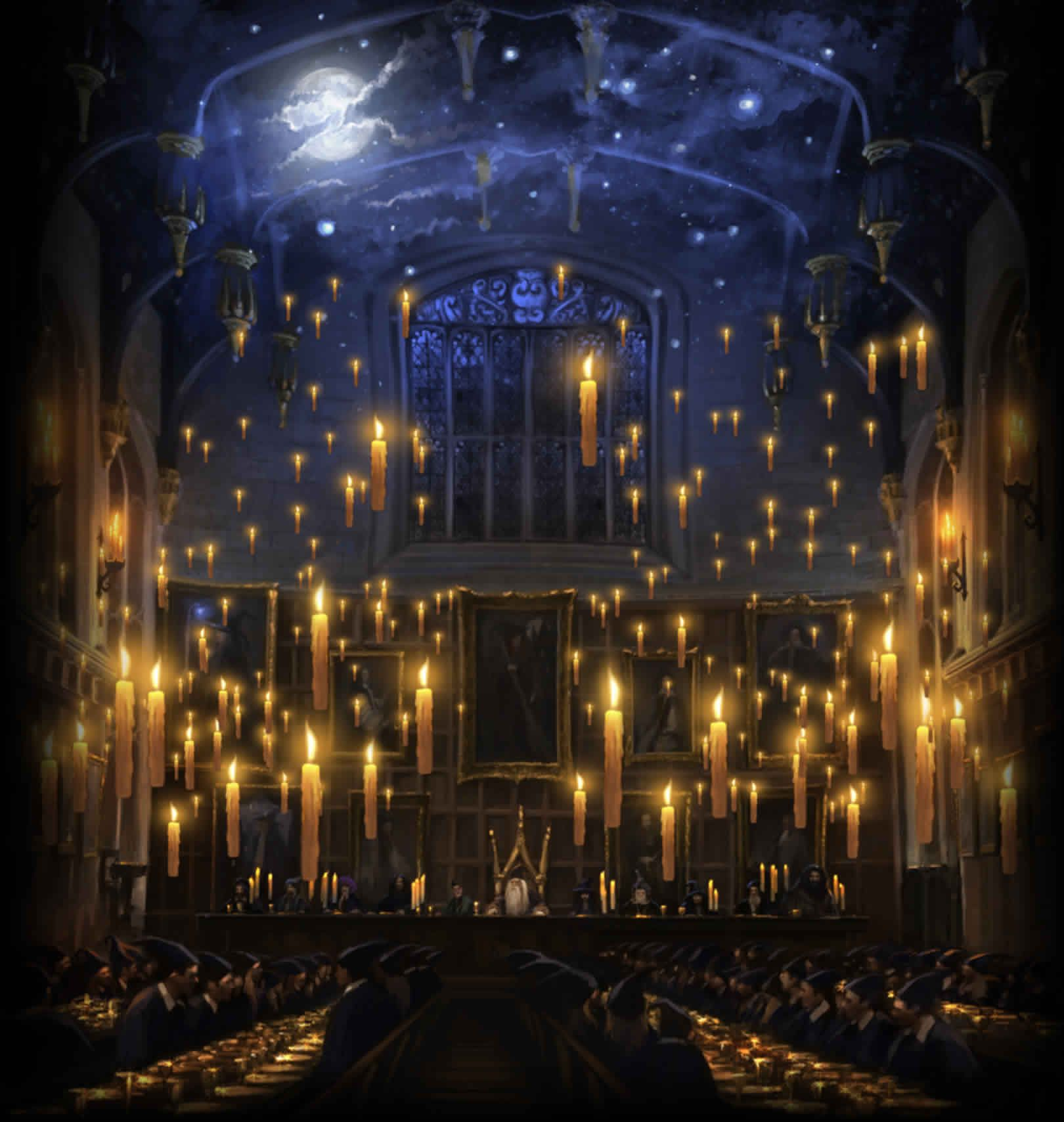 Great Hall | Night skies, Harry potter and Hall
