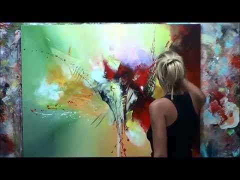 D 233 Monstration De Peinture Abstraite 8 Elisabeth Toile