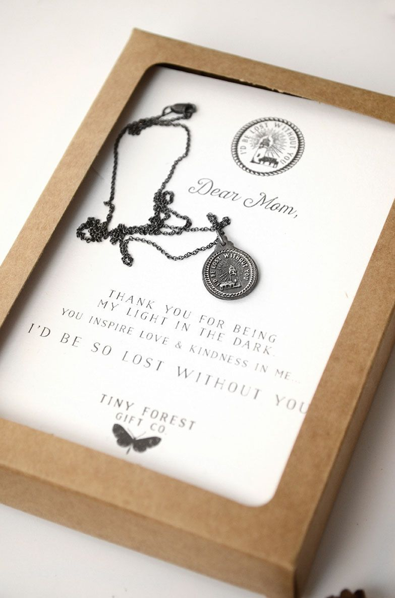 Dear mom id be lost without you necklace diy gifts for