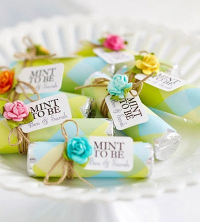 "wedding favors  ""Mint To Be"" - cute idea."
