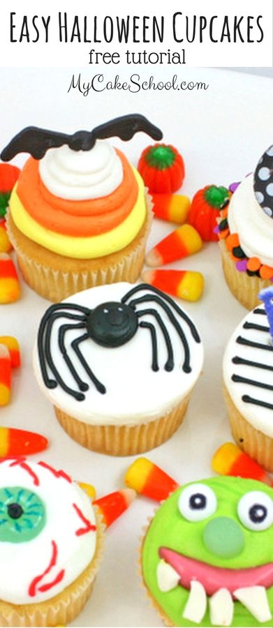 Halloween Cupcake Tutorial! Pinterest Halloween desserts, Cake - decorating ideas for halloween cupcakes