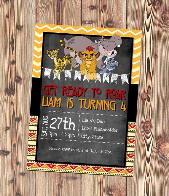 Printable Birthday Party Invitation Card Detroit Lions: Lion Guard Invitation