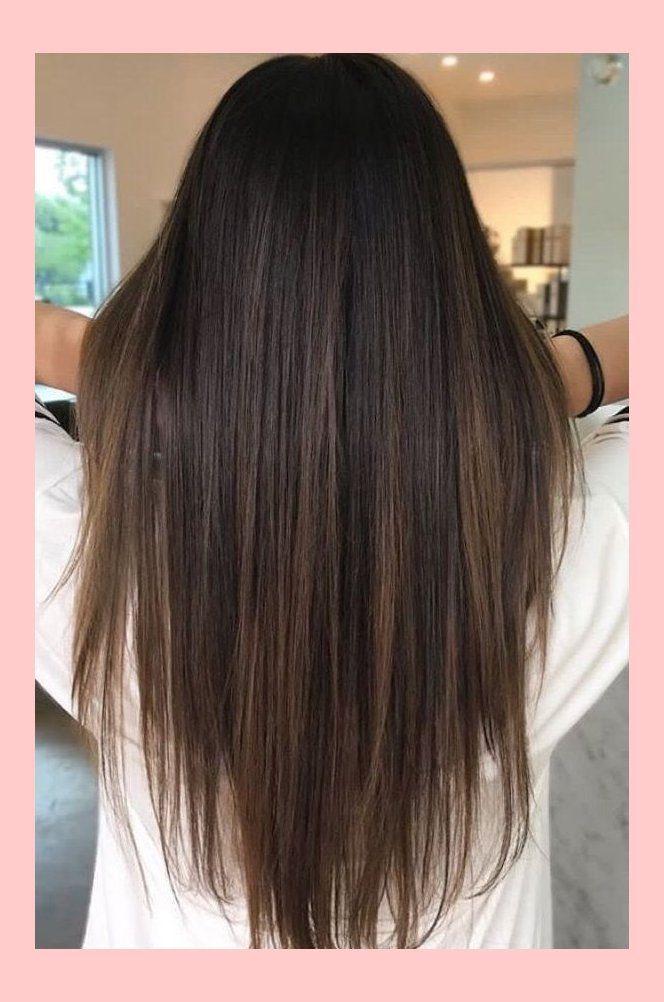 apr 27 2020 - brunette balayage ; straight hair ; brown