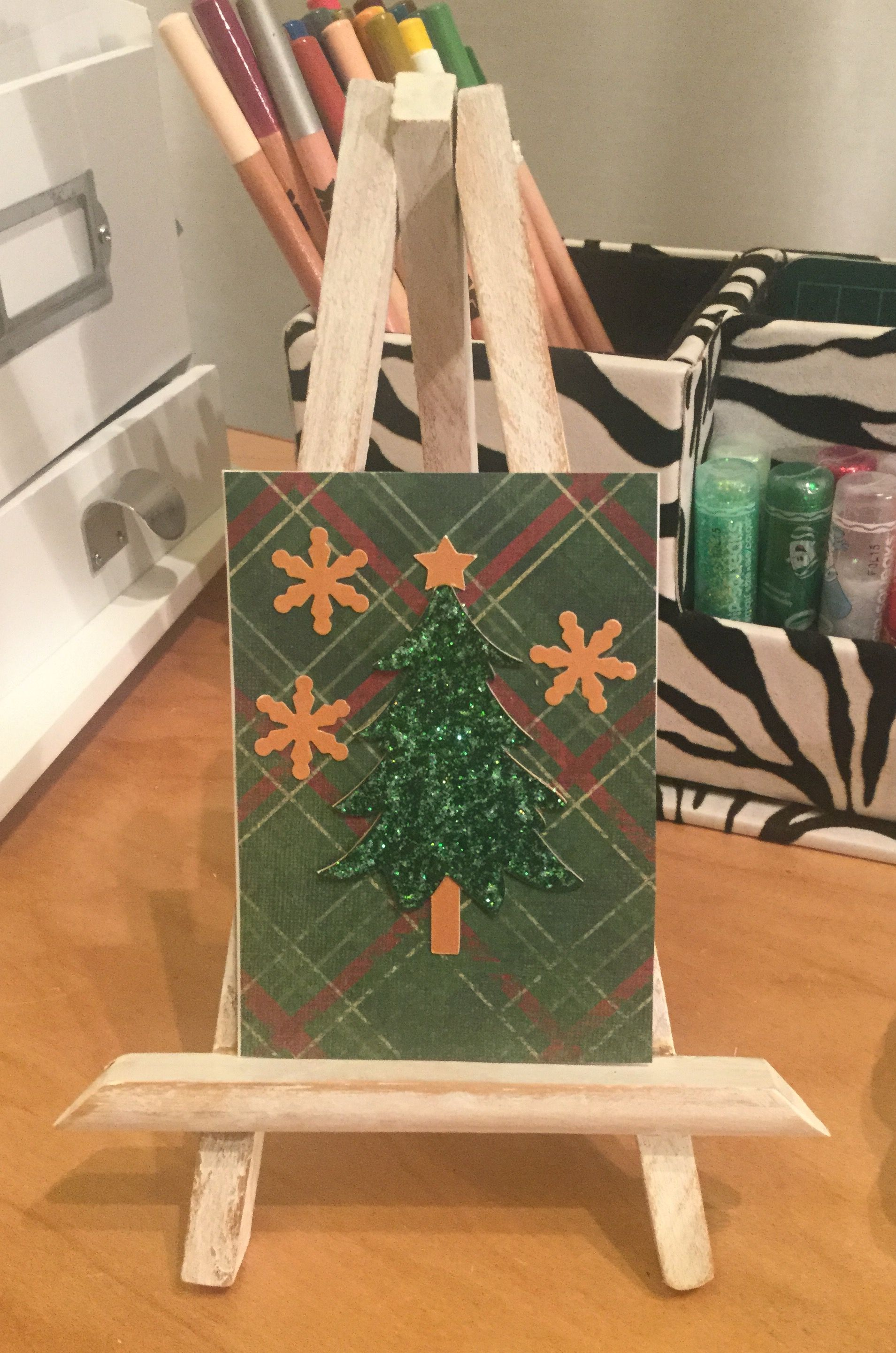 Christmas gift card made with cricut design space