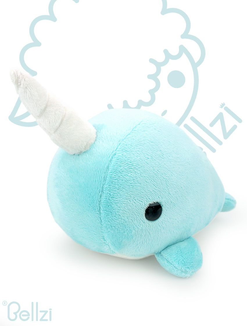 cute teal narwhal stuffed animal plush toy narrzi plush teal