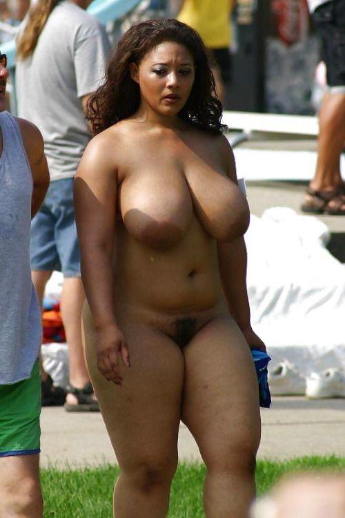 Chubby naked women public