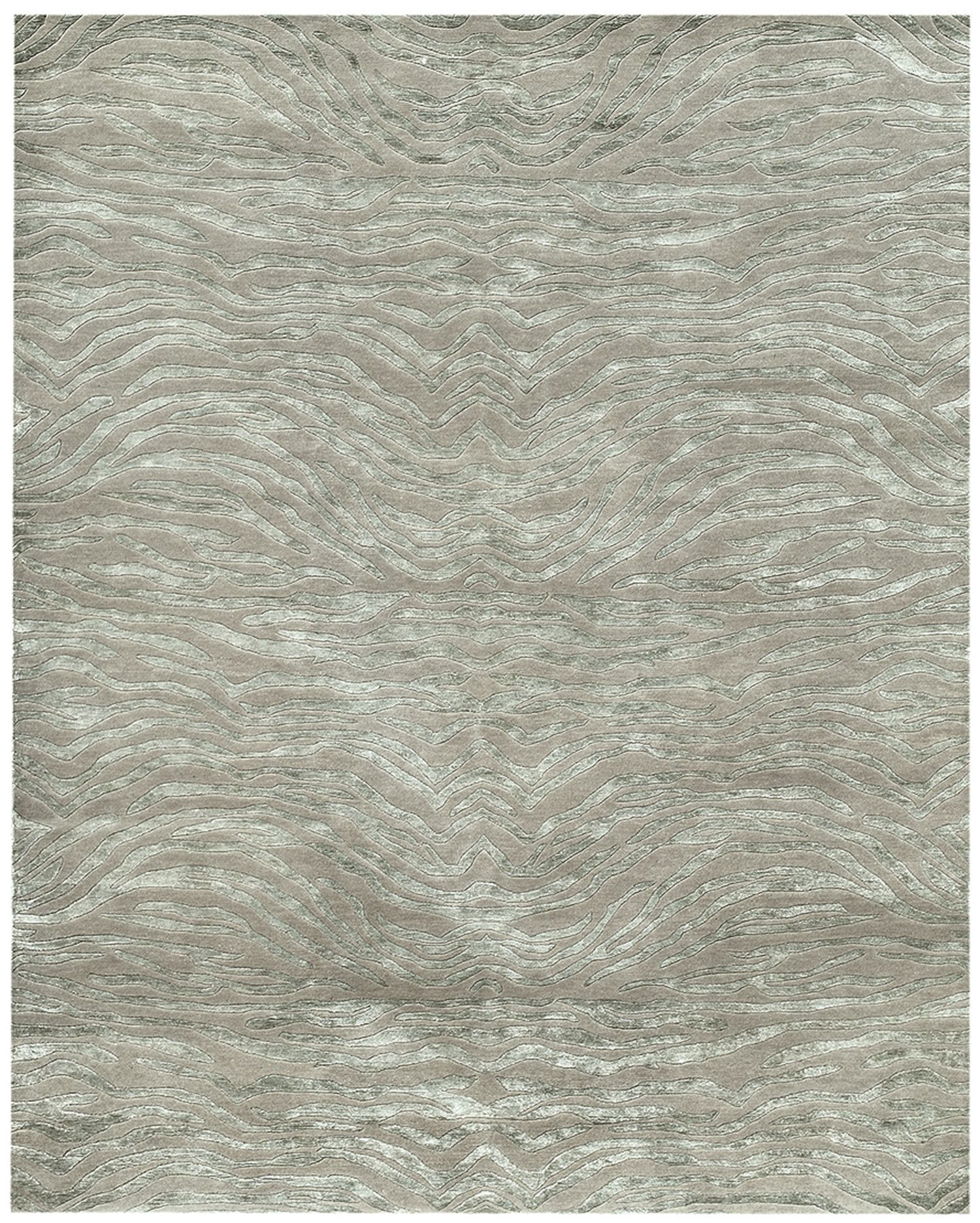 Synergy Jungsi Design Hand Knotted Sage Green Outdoor Area Rug
