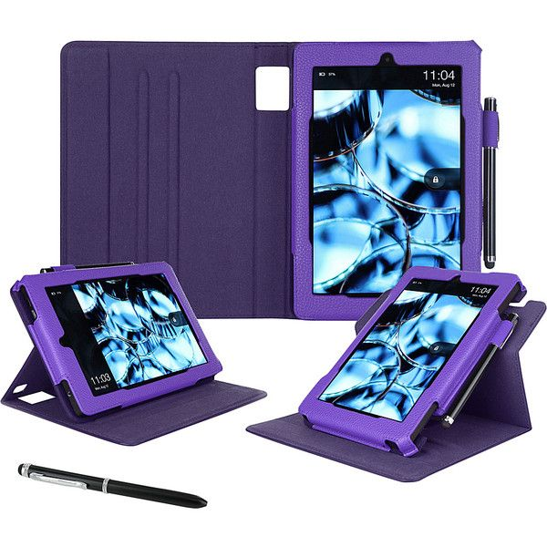 Roocase Dual View Case For Kindle Fire Hd 10 Ipad Tablet Ca 21 Liked On Polyvore Featuring Bags Business Laptop Sleeves Purple Patent Bag