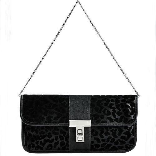 "It is sure that this PU leather shoulder bag is very charming. Especially the leopard-skin pattern on the bag, it is very hot and cool. It shows a wild feeling of women but also very exquisite and decent in mind. There is a ""T"" shaped buckle closure. The buckle is made of high quality silver-tone hardware."