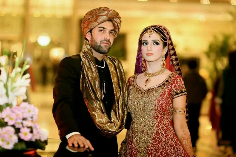 Pretty Pakistani bride and groom