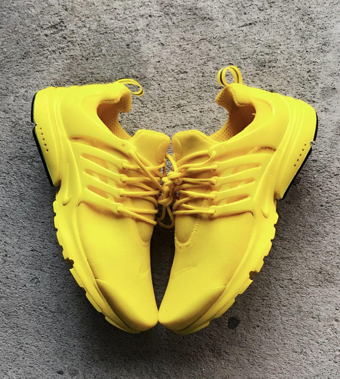 Custom Sunshine Yellow Nike Presto
