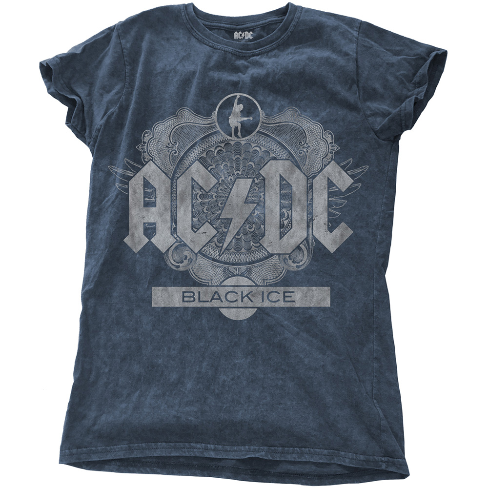 AC/DC - Black Ice (Snow Washed - Denim Blue) (Ladies)