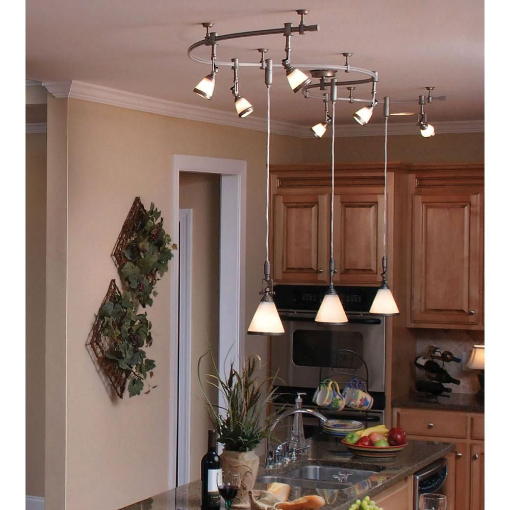 Pin By Jay Cincotta On Studio Apartment Decor In 2021 Track Lighting Kitchen Flexible Track Lighting Dining Lighting