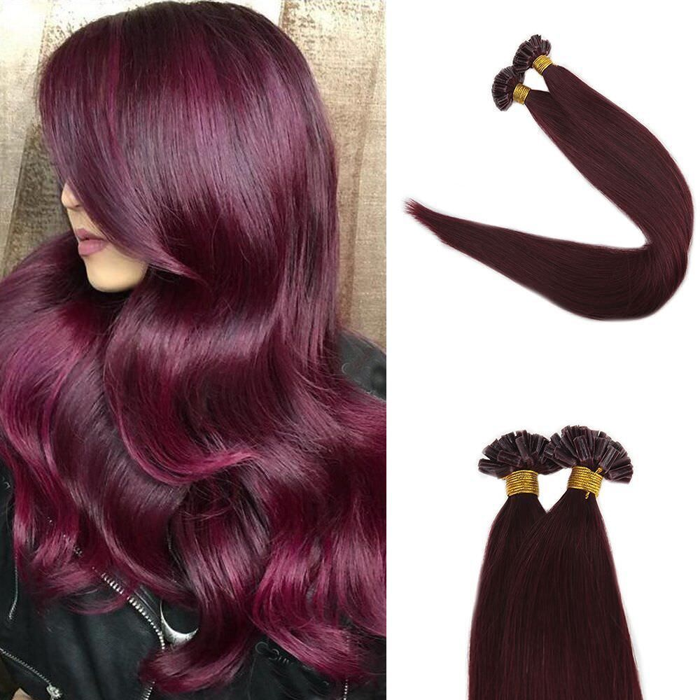 Remy Hair Extensions Prebonded Remy Hair Extensions Straight Color