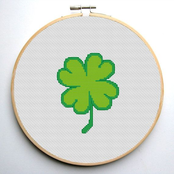 Cross stitch pattern PDF Clover Instant Download