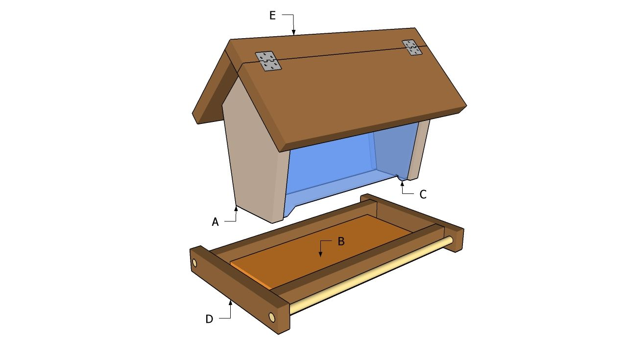 Free bird feeder plans myoutdoorplans free woodworking for Homemade bird feeder plans