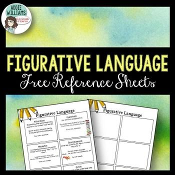 Figurative Language \/ Poetry Terms - Definitions and examples of - reference sheet examples