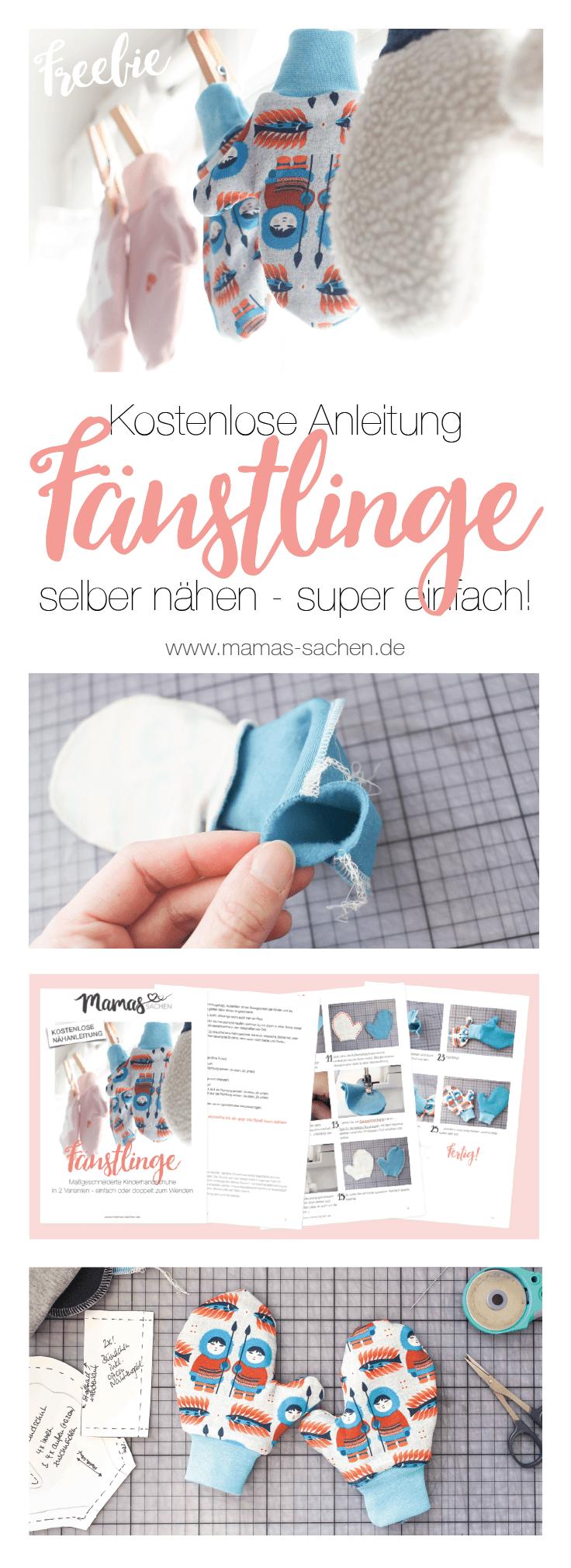 Freebook - kostenlose Nähanleitung für schnelle Kinder-Handschuhe ...