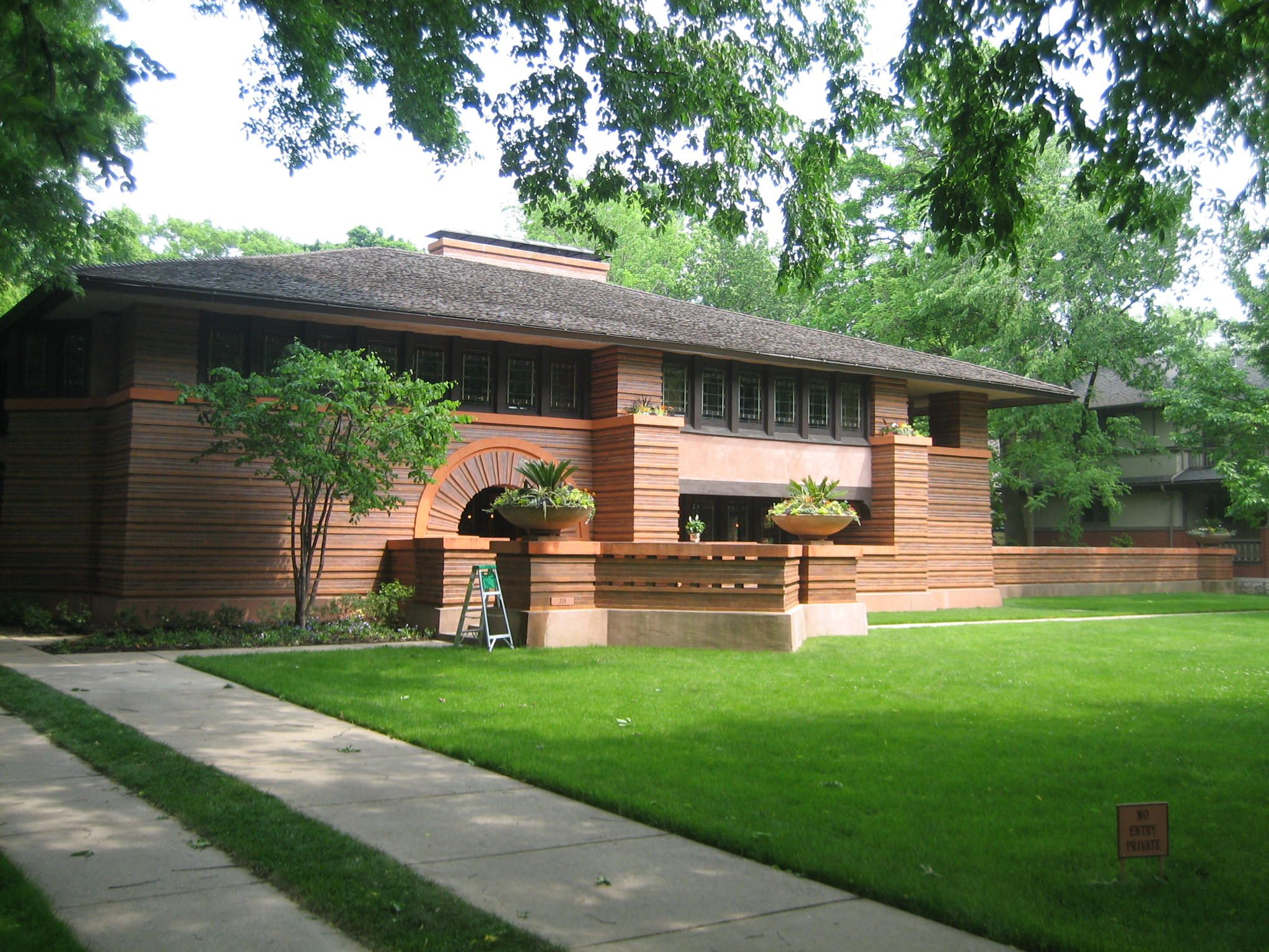 Frank Lloyd Wright Arthur Heurtley House 1902 Oak Park Illinois