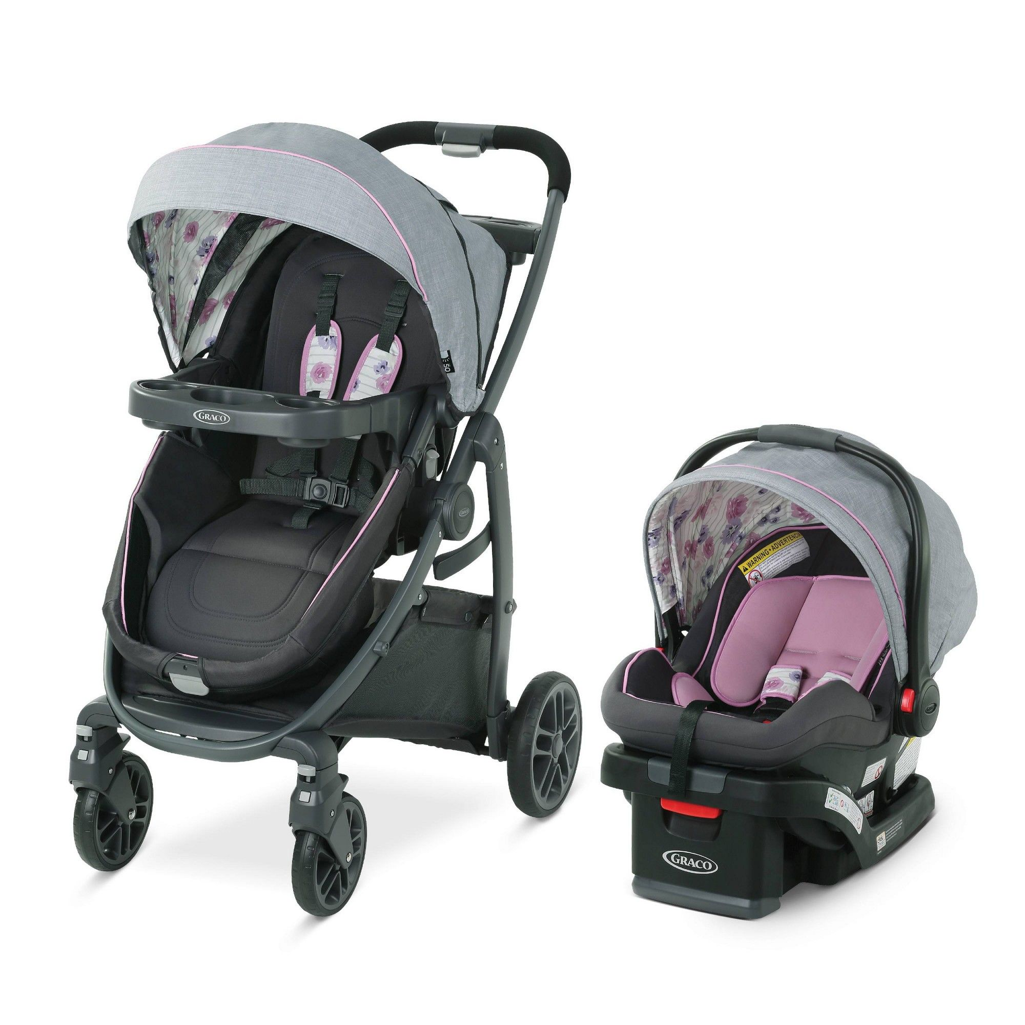 Graco Modes Bassinet Travel System Carlee Pink Baby Car Seats